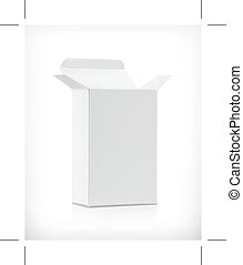 White carton box, illustration