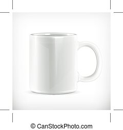 White mug illustration