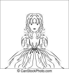 Silhouette Fairy character Princess