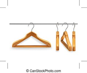Wooden clothes hangers