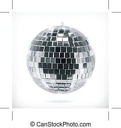 Disco ball icon - Disco ball, icon, isolated on white...