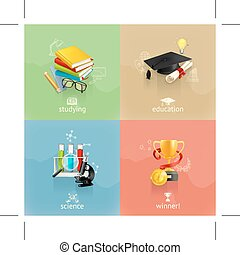 Education concepts icons