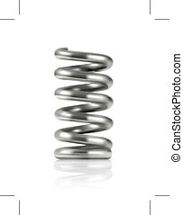 Elastic metal spring,  icon, isolated on white background