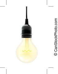 Electric light bulb, illustration, isolated on white...