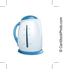 Electric kettle icon, isolated on white background