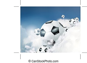 Football in the clouds
