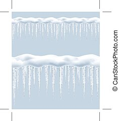 Icicles, seamless border
