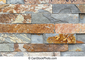 Background Texture - Modern Stone Feature Wall in natural...