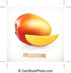 Mango, illustration, isolated on white background