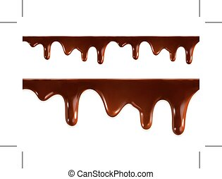 Melted chocolate seamless vector - Melted chocolate,...