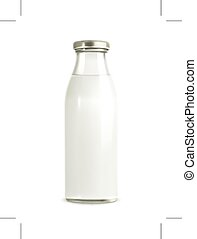 Milk bottle illustration - Milk bottle, illustration,...