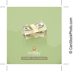 Money minimalistic background - Money, minimalistic...