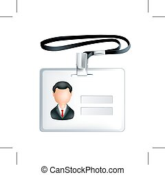 Name tag icon - Name tag, icon, isolated on white background