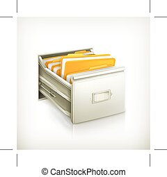 Open card catalog, icon