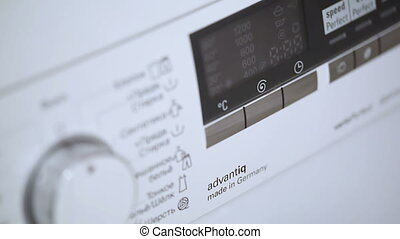 Hand Turning Washing Machine Appliance Dial - Work of...