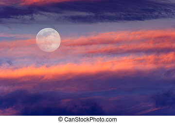 Skies Moon Clouds - Skies moon clouds is a surreal fantasy...