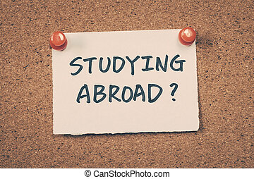 Studying abroad