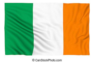 Flag of Ireland , isolated on white
