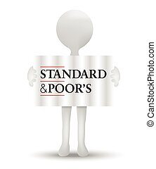 Standard and Poors - ISTANBUL, TURKEY - AUGUST 02, 2015:...