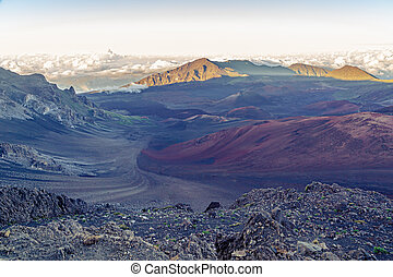 Haleakala Crater - The colorful, otherworldly terrain of...