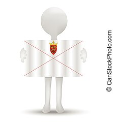 flag of Bailiwick of Jersey - small 3d man holding a flag of...