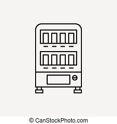 vending machine line icon