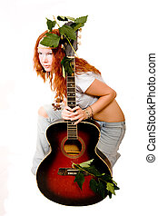 Hippie it is sexual! - The red-haired girl of hippie with a...