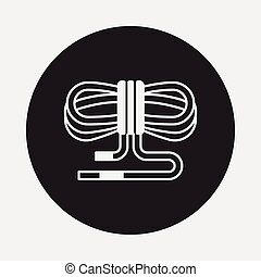 Rope skipping icon