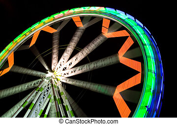 Ferris Wheel - A big colorful ferris wheel at night