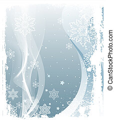 Snowing Background - Illustration of Grunge Snowing Winter...