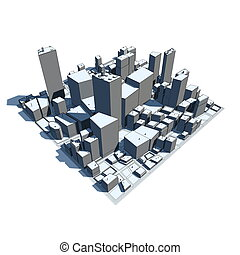 Cityscape Model 3D - Cartoon Syle - 3D cityscape model at...