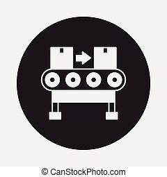 Cargo conveyor icon
