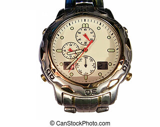 Wristwatches displayed on a white background