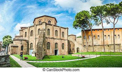Famous Basilica di San Vitale in Ravenna, Italy - famous...