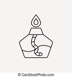 Alcohol lamp line icon