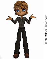 Cute Toon Boy - 3D Render of an Cute Toon Boy