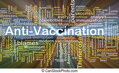 Anti-vaccination, fundo, conceito, Glowing,