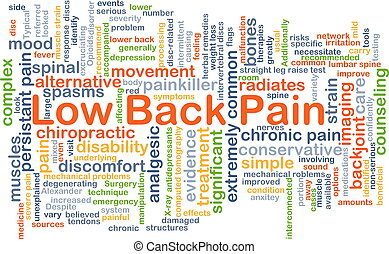 Low back pain background concept - Background concept...