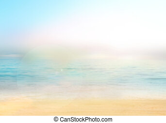 Blurred nature background Background with beaches, turquoise...
