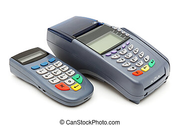 POS-terminal with PIN-pad - Modern POS terminal with...