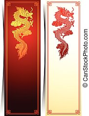 Chinese dragon template - Chinese traditional template with...