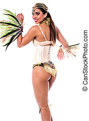 Everyone follow my steps. - Pretty samba dancer woman...