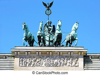 Brandenburg Gate Quadriga Berlin - Brandenburg Gate Quadriga...