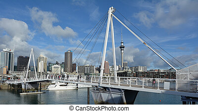 Wynyard Crossing at Auckland Viaduct Harbor Basin - AUCKLAND...