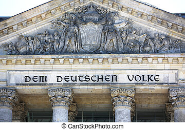 Pediment Reichstag Building Berlin - Pediment of the...