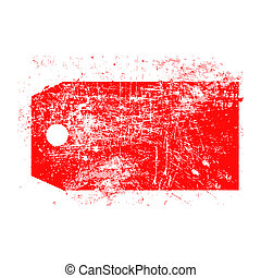 illustration vector grunge stamp of empty red price tag. -...