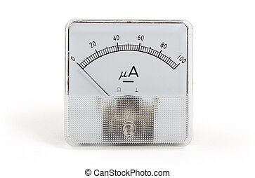 Old meter isolated on the white background