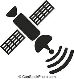 lägenhet, satellit,  TV, kommunikation,  Symbol, ikon, radioutsändning