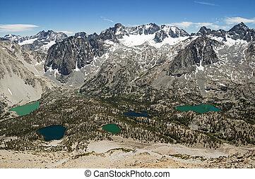 Palisade Mountains - Palisade Mountain Range in the Sierra...