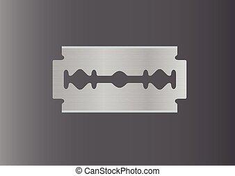 razor vector, razor blade, razor in dark background
